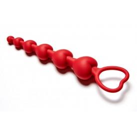 Бордовая анальная цепочка Love Beam - 19 см.